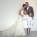Ilse Ruijters - Bas ten Brinke - met bruidsmeisjes